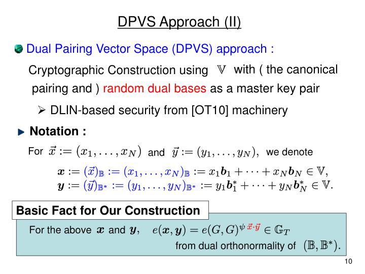 DPVS Approach (II)
