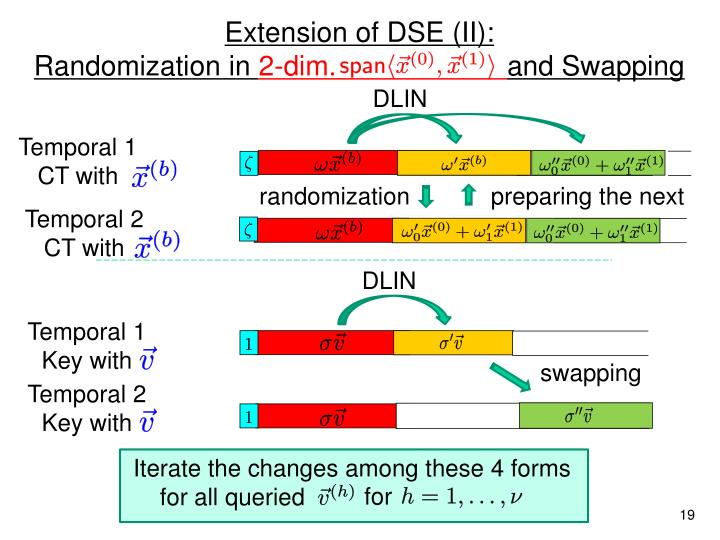 Extension of DSE (II):