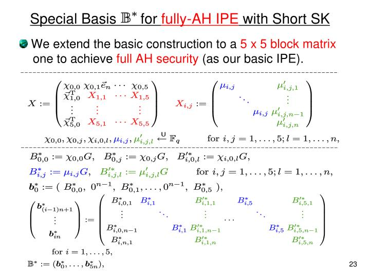 Special Basis      for