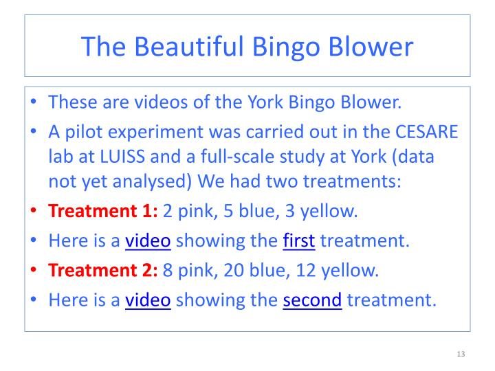 The Beautiful Bingo Blower