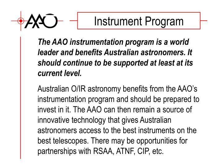 Instrument Program