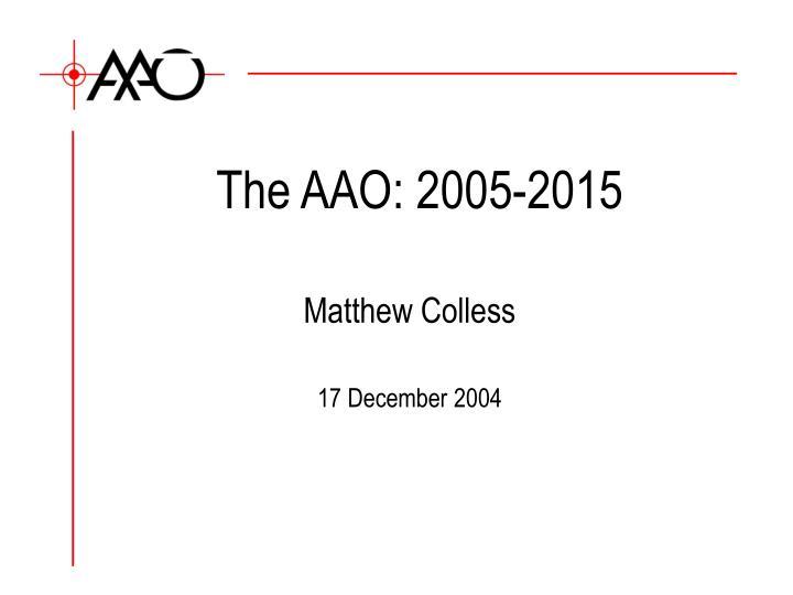 The AAO: 2005-2015