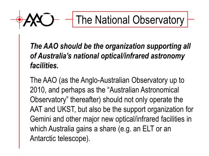 The National Observatory