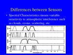differences between sensors