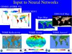 input to neural networks