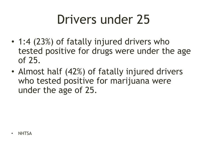 Drivers under 25