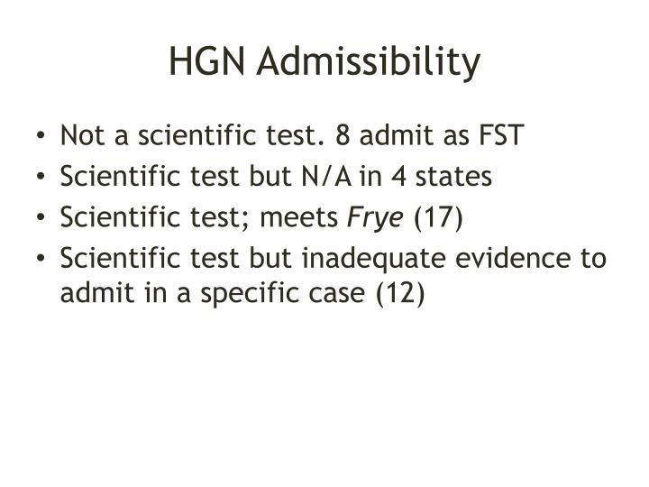 HGN Admissibility