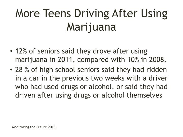 More Teens Driving After Using Marijuana