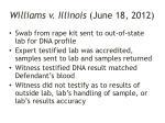 williams v illinois june 18 2012