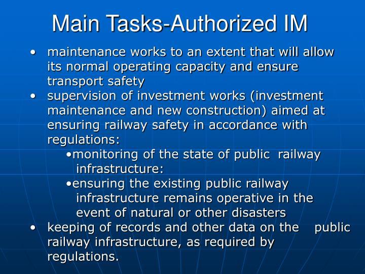 Main Tasks-Authorized