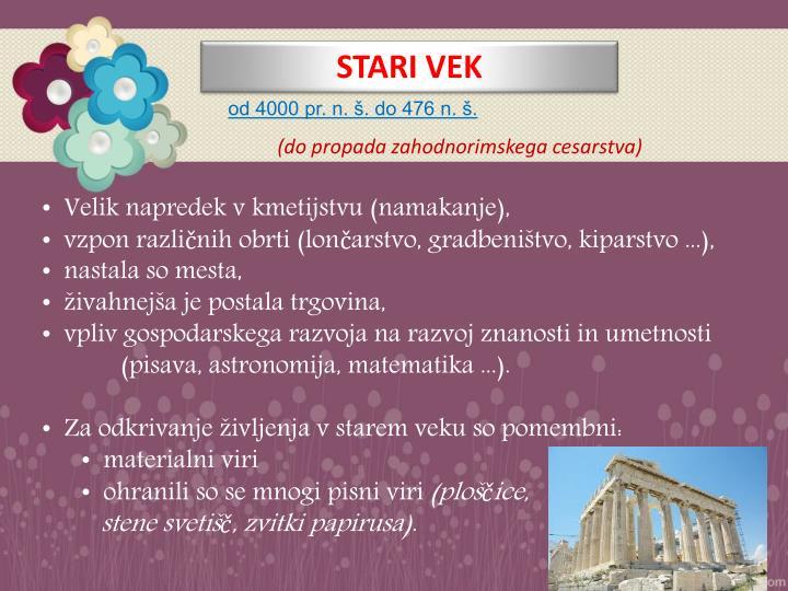 STARI VEK