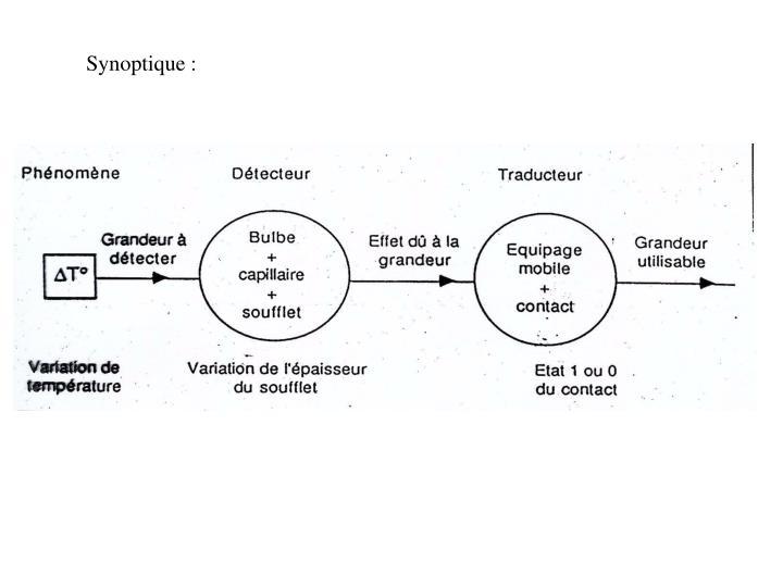Synoptique :