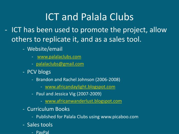 ICT and Palala Clubs