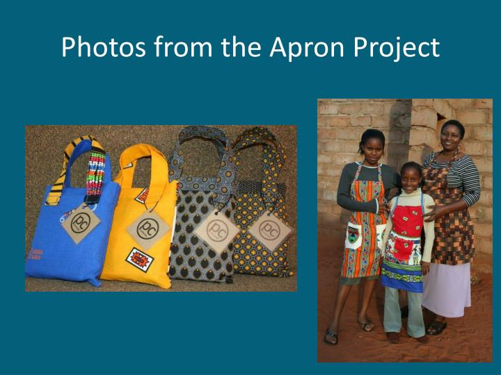 Photos from the Apron Project