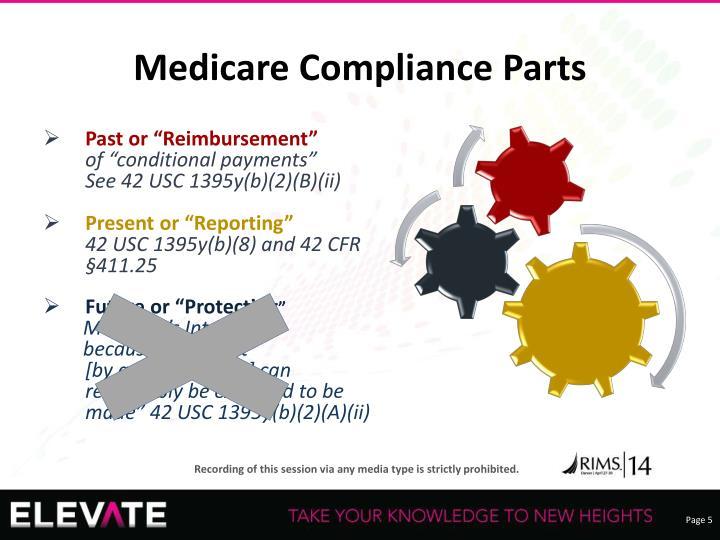 Medicare Compliance Parts
