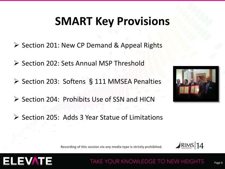 SMART Key Provisions