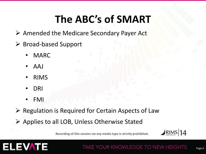 The ABC's of SMART