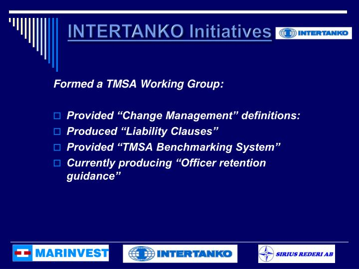 INTERTANKO Initiatives