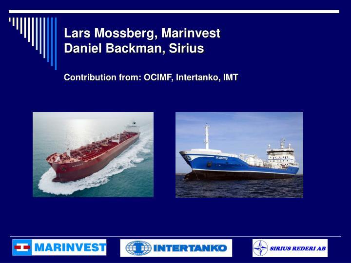 Lars Mossberg, Marinvest