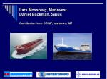 lars mossberg marinvest daniel backman sirius