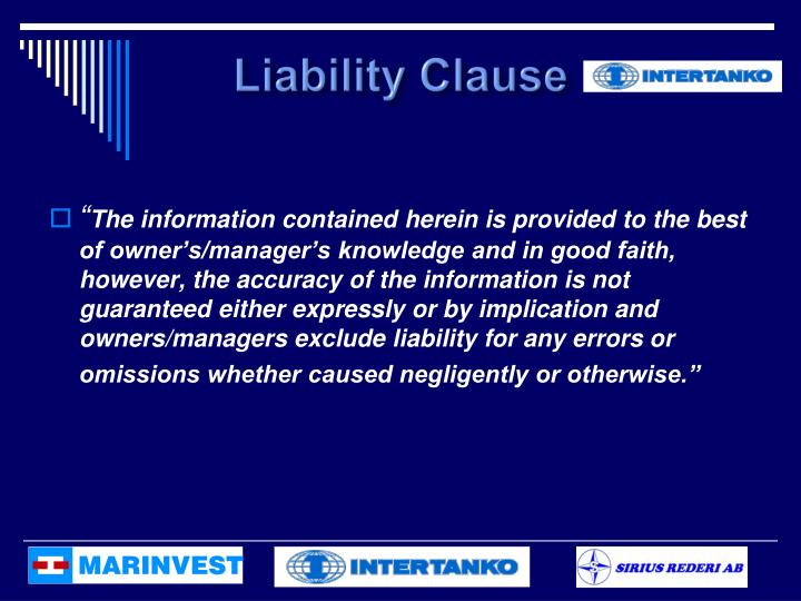 Liability Clause