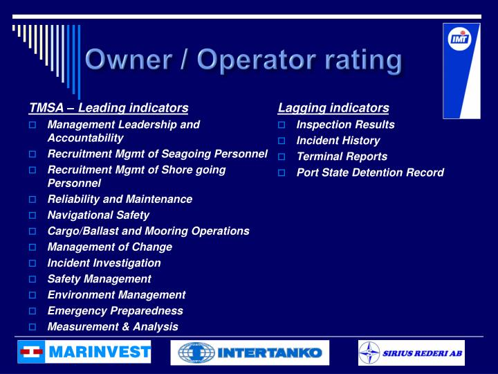 Owner / Operator rating