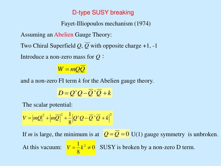 D-type SUSY breaking
