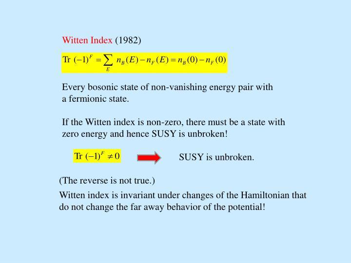 Witten Index