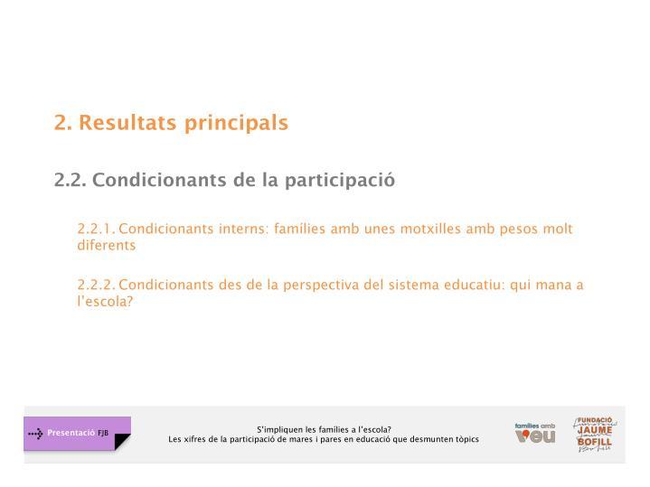2. Resultats principals