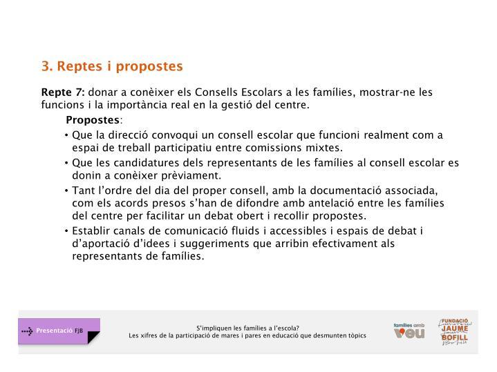 3. Reptes i propostes