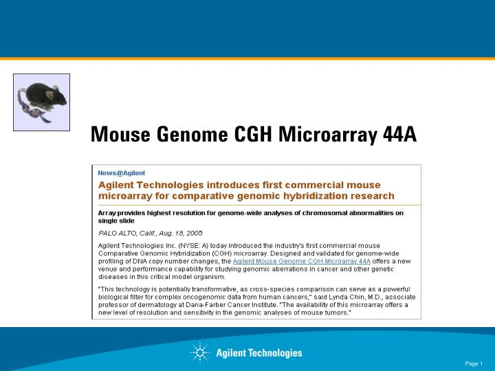Mouse Genome CGH Microarray 44A