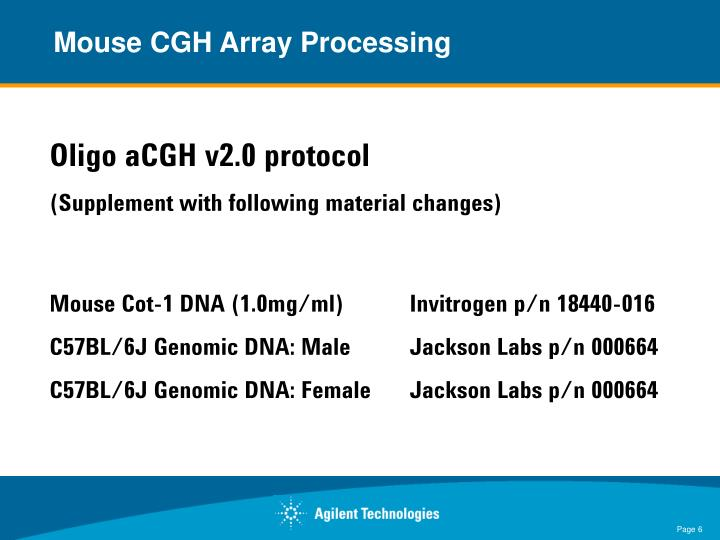 Mouse CGH Array Processing
