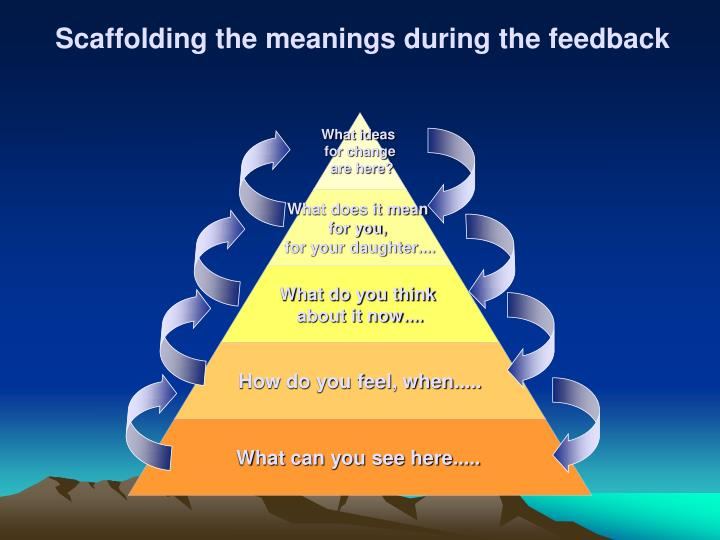 Scaffolding the meanings during the feedback