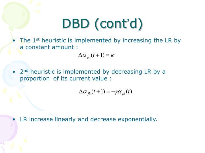DBD (cont