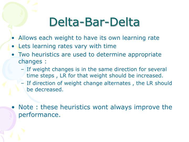 Delta-Bar-Delta