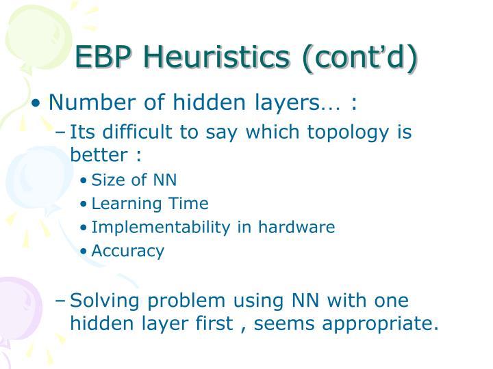 EBP Heuristics (cont