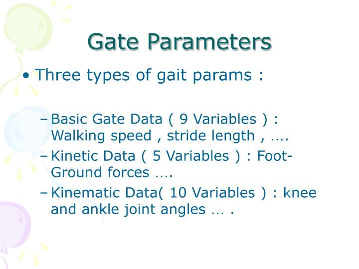 Gate Parameters