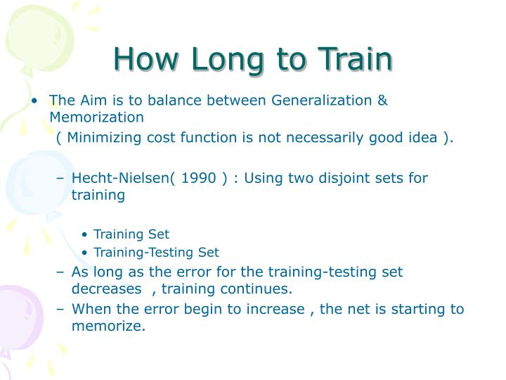 How Long to Train