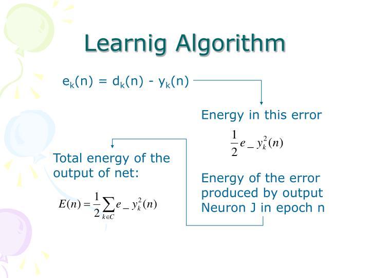 Learnig Algorithm