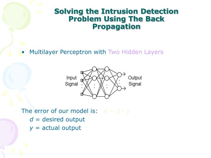 Solving the Intrusion Detection