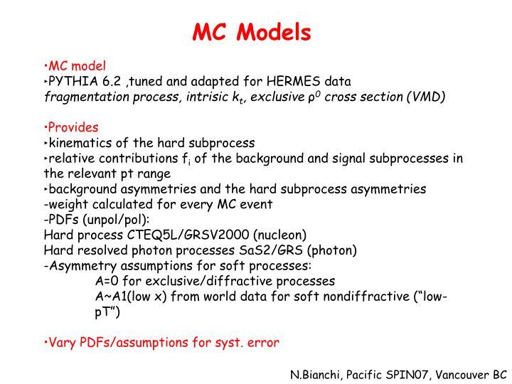 MC Models