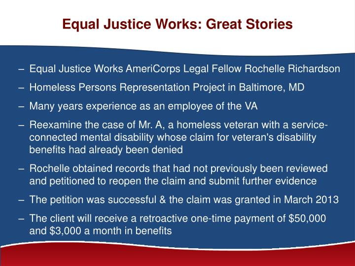 Equal Justice Works: Great Stories