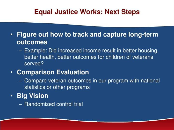 Equal Justice Works: Next Steps