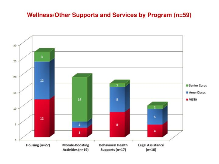 Wellness/Other Supports and Services by Program (n=59)
