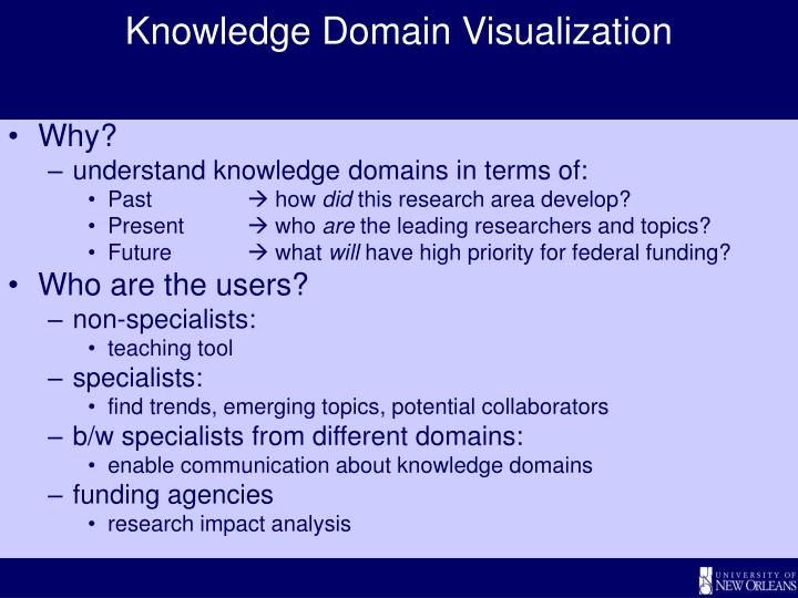 Knowledge Domain Visualization