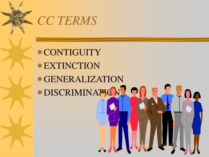 CC TERMS