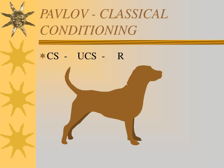 PAVLOV - CLASSICAL CONDITIONING