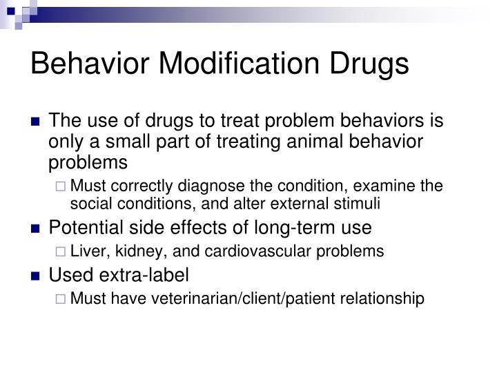 Behavior Modification Drugs