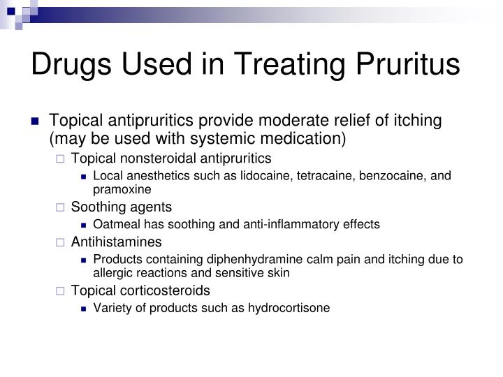 Drugs Used in Treating Pruritus