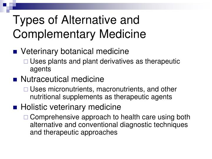 Types of Alternative and Complementary Medicine